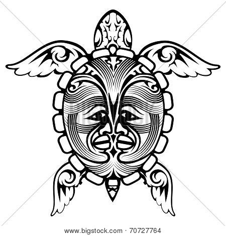 Tribal Totem Animal Turtle Tattoo
