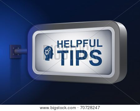 Helpful Tips Words On Billboard