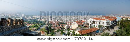 Greece, Thessaloniki, A Panorama Of The Historic Center
