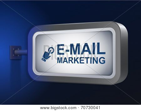 E-mail Marketing Words On Billboard