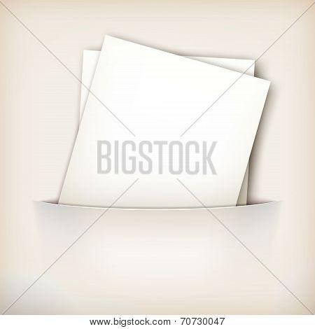 Vector Paper Sheet in Pocket