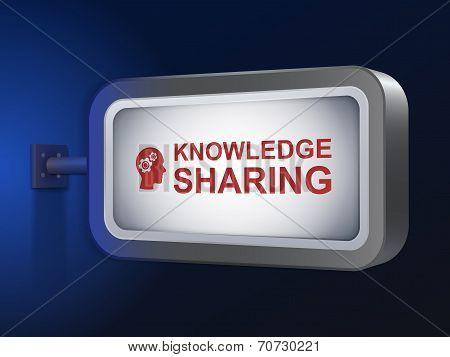 Knowledge Sharing Words On Billboard