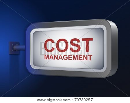 Cost Management Words On Billboard