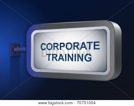 Corporate Training Words On Billboard