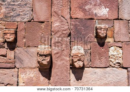 Faces In Tiwanaku