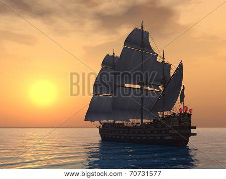 French Warship