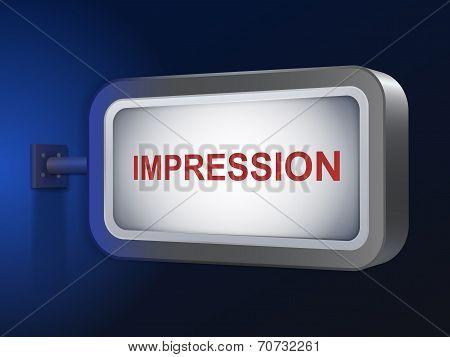 Impression Word On Billboard