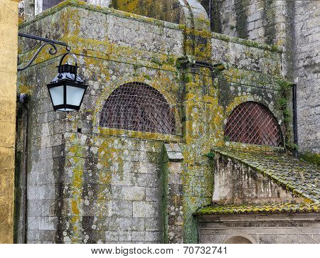 The  Facade Of Cathedral At Evora, Portugal