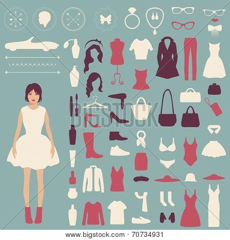 fashion vector icons,