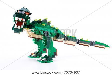 Ankara, Turkey - April 04, 2012: Studio shot of Lego Creator Ferocious Creatures   isolated on white background