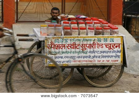 Streetfood Vendor In Agra, June 16Th 2007