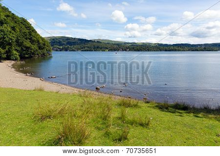 UK Lake District Windermere Lake District England uk on a beautiful summer day with blue sky