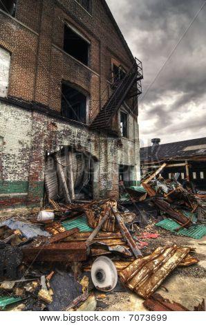 Demolished Brick Building