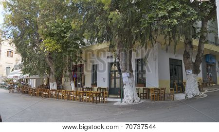 A taverna in Vamos, Crete, Greece