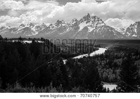 Snake river at Grand Teton National Park