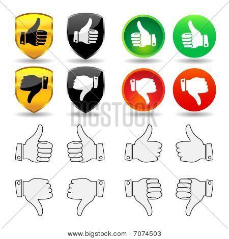 Pulgares de gestos - Set 1 - mano