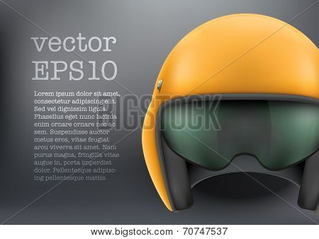 Background of Aaircraft or motorsport marshall helmet. Vector.