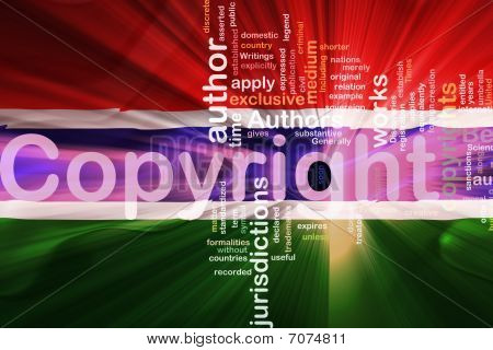 Flag Of Gambia Wavy Copyright Law