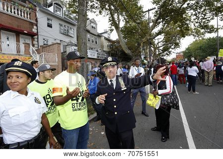 NYPD Chief Delatorre with marshals
