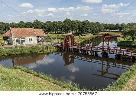 Drawbridge At Bourtange