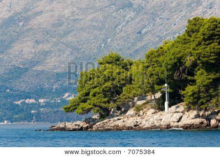 mediterrane Landschaft Cavtat, Kroatien