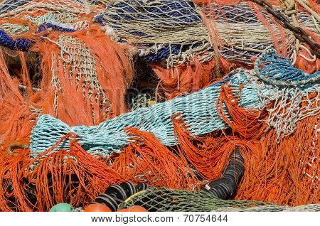 A Pile Of Fishing Nets