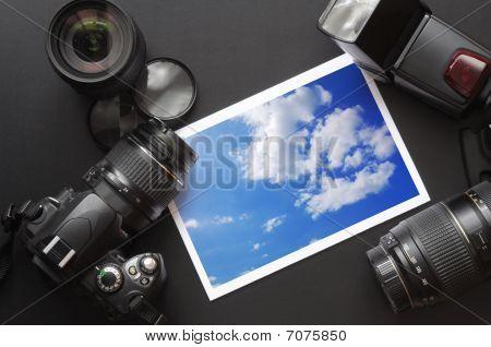 Câmera DSLR e imagem