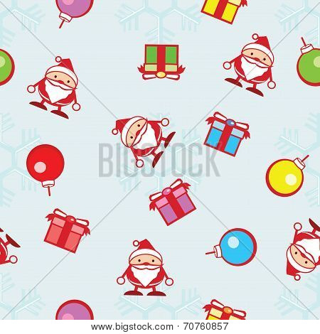 seamless background of Christmas and snowflake