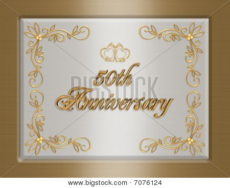50th golden Wedding Anniversary invitation