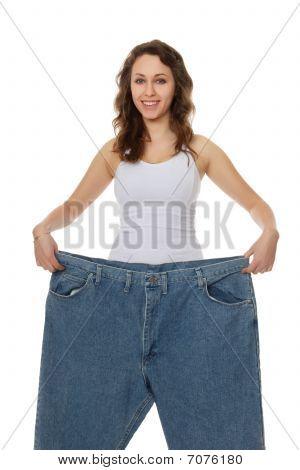 hübsche Frau Gewicht-Verlust