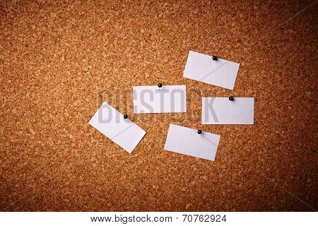 Business Cards Pinned