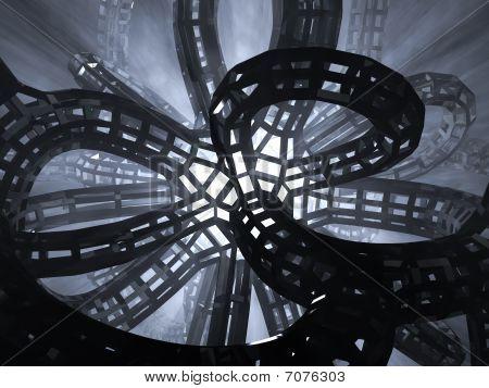 Futuristic architecture background