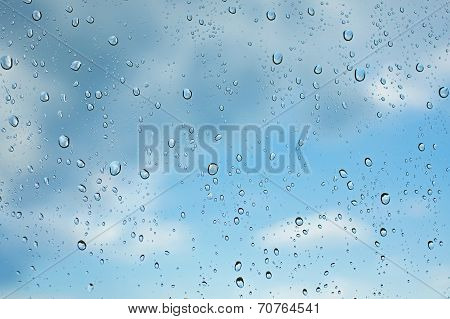 Many Small Drops On A Glass