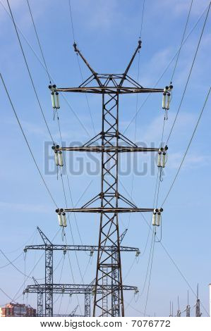 reliance power at the bright blue sky