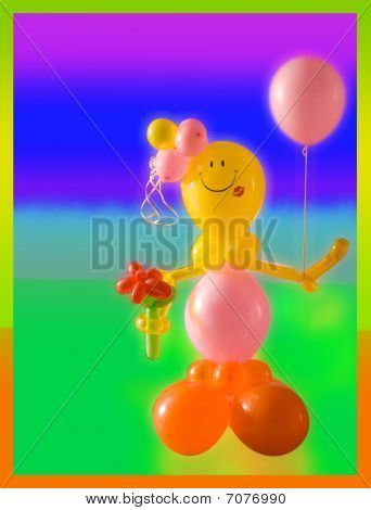 Girl made of balloons