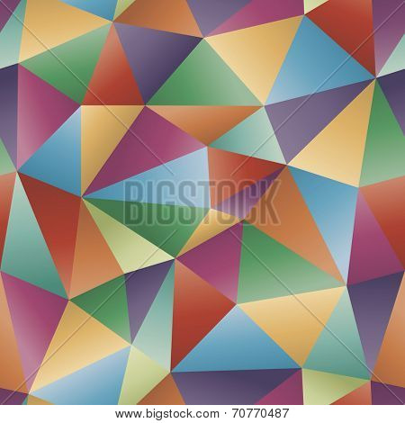 Polygonal multicolored seamless vector background. Abstract vector with irregular triangles