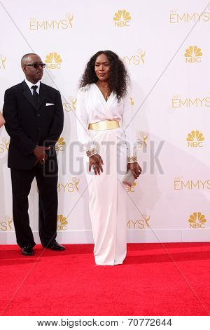 LOS ANGELES - AUG 25:  Angela Bassett at the 2014 Primetime Emmy Awards - Arrivals at Nokia Theater at LA Live on August 25, 2014 in Los Angeles, CA
