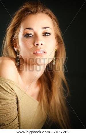 Attractive Woman Looking At Camera