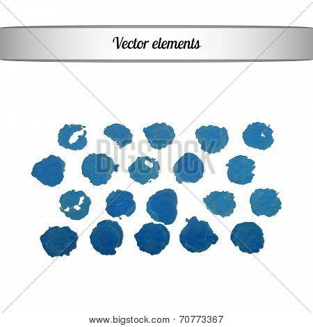 Acrylic paint vector dots
