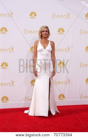 LOS ANGELES - AUG 25:  Kristen WIig at the 2014 Primetime Emmy Awards - Arrivals at Nokia Theater at LA Live on August 25, 2014 in Los Angeles, CA