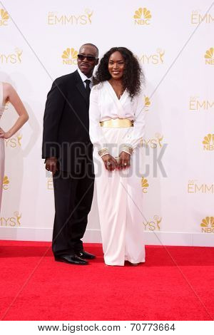 LOS ANGELES - AUG 25:  Courtney B. Vance, Angela Bassett at the 2014 Primetime Emmy Awards - Arrivals at Nokia Theater at LA Live on August 25, 2014 in Los Angeles, CA
