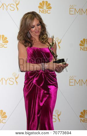 LOS ANGELES - AUG 25:  Allison Janney at the 2014 Primetime Emmy Awards - Press Room at Nokia Theater at LA Live on August 25, 2014 in Los Angeles, CA