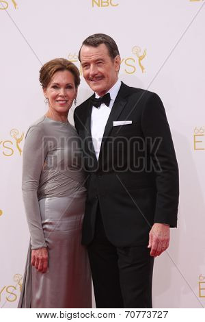 LOS ANGELES - AUG 25:  Bryan Cranston at the 2014 Primetime Emmy Awards - Arrivals at Nokia Theater at LA Live on August 25, 2014 in Los Angeles, CA