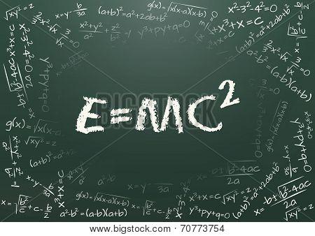 Chalkboard Formula Math