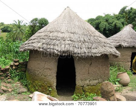 A Thatched roof African hut