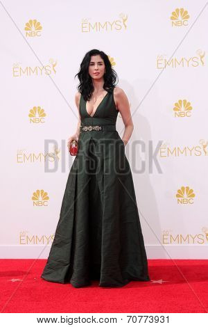 LOS ANGELES - AUG 25:  Sarah Silverman at the 2014 Primetime Emmy Awards - Arrivals at Nokia Theater at LA Live on August 25, 2014 in Los Angeles, CA
