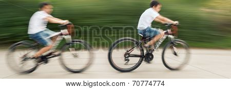 Two Teenagers Cyclists