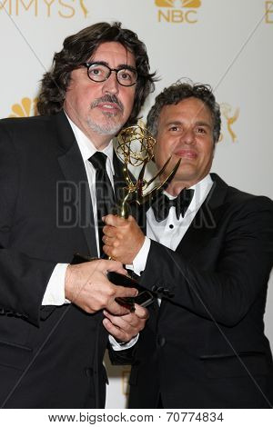LOS ANGELES - AUG 25:  Alfred Molina, Mark Ruffalo at the 2014 Primetime Emmy Awards - Press Room at Nokia Theater at LA Live on August 25, 2014 in Los Angeles, CA