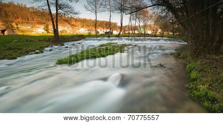 Beautiful River In Galicia, Spain