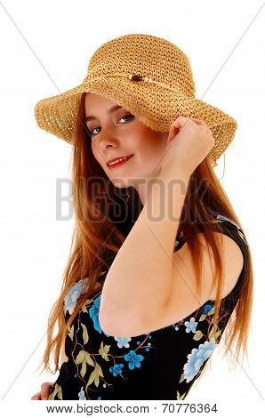 Pretty Girl With Hat.